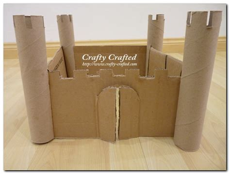 How To Make A Paper Castle Easy - crafty crafted crafts for children