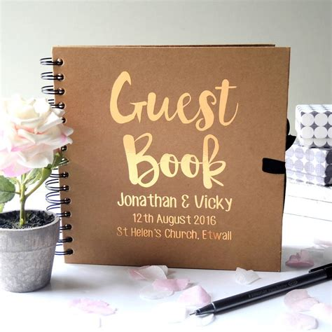 wedding guest book pictures personalised wedding guest book by the alphabet gift shop