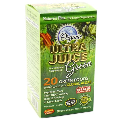 Natures Plus Ultra Juice Multinutrient Supplement 90 Tablets ultra juice green by nature s plus 90 tablets