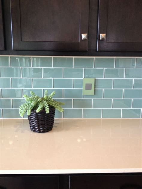 teal tile backsplash this colour scheme cabinets teal subway tile white