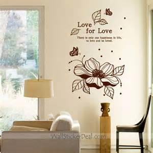 Love Stickers For Walls love for love flower wall decals wallstickerdeal com