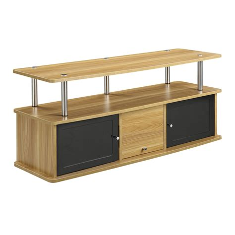 light oak tv cabinet designs2go light oak 3 cabinet tv stand convenience