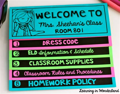 Back To School Flip Book Learning In Wonderland Flip Book Templates For Teachers