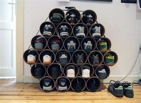 pvc pipe shoe storage diy diy shoe organizer designs a must in any home