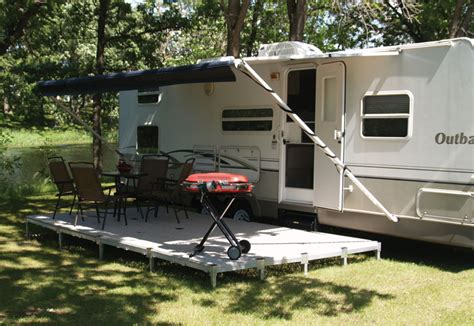 temporary deck portable rv deck 10407