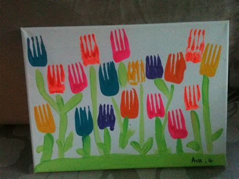 arts crafts 1 841586700x ava s tulip fork art preschool fun arts and crafts crafts for kids fork art