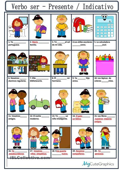imagenes educativas verbos verbo ser presente indicativo english for kid