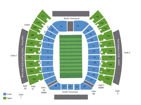 texas tech stadium map jones at t stadium seating chart events in lubbock tx