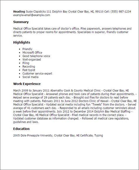 Health Specialist Cover Letter by Cover Letter For Office Spe