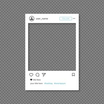 Frame Vectors Photos And Psd Files Free Download Instagram Frame Template