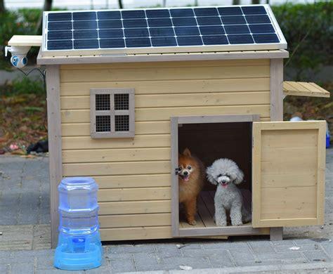 pomeranian dog house solar dog house with wifi cameras auto feeder fan led pomeranian poodle diy