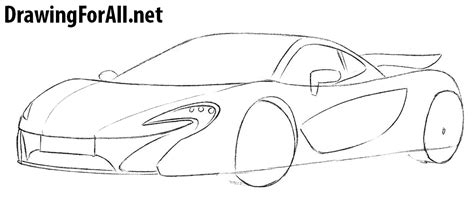 mclaren p1 drawing easy mclaren p1 drawing outline sketch coloring page