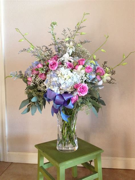 large vase arrangement beautiful artemisia floral