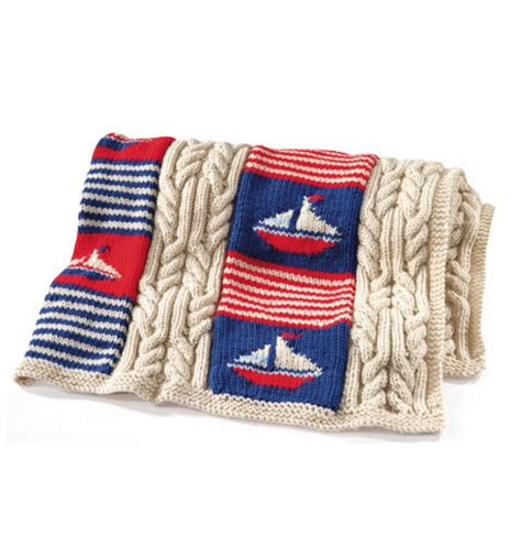 nautical blanket knitting pattern craftdrawer crafts knit a nautical ship theme afghan pattern