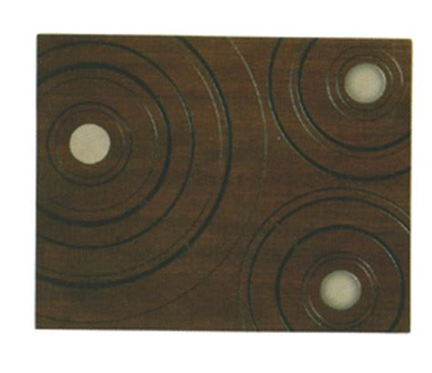 Wood Disk Placemat It Or It by Wood Loop 2 Placemat Set