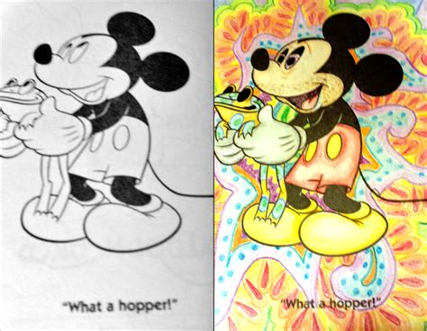 coloring book corruptions goofy mickey coloring book corruptions