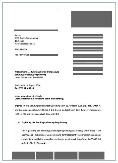 Antrag Gericht Vorlage olaf kretschmann vs rundfunkbeitragspflicht der info