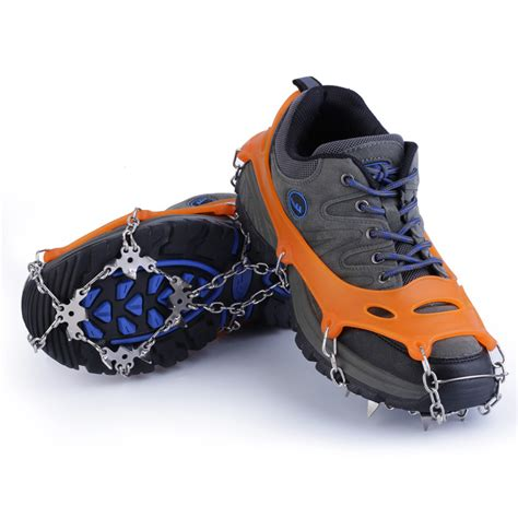 new 18 teeth non slip snow crons shoes chain cleat