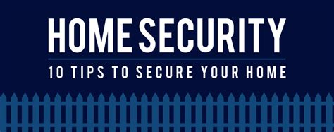 10 security tips for your home