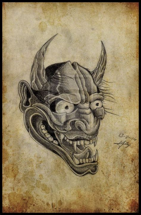 hannya mask tattoo designs hannya the pictures to pin on tattooskid