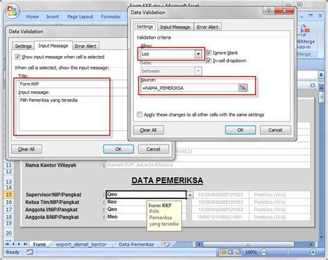 membuat form isian di excell membuat form isian yang terproteksi part 02 e auditor