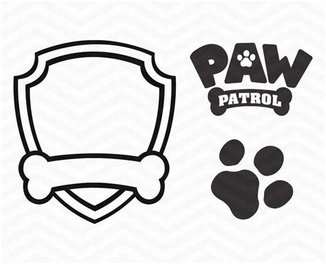 paw patrol shield coloring pages paw patrol badge printables thekindproject