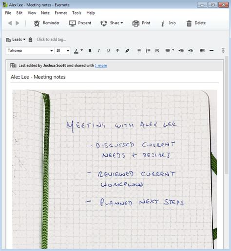 evernote meeting notes template how to keep track of customers with evernote business evernote gt gt 25 evernote meeting
