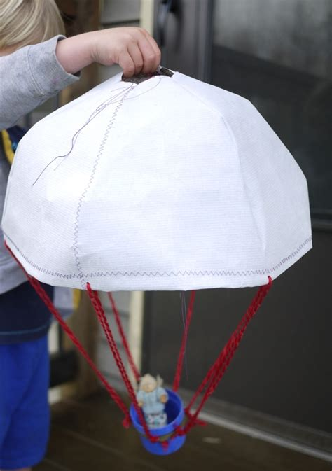 Make A Paper Parachute - parachute the handmade adventures of captain crafty