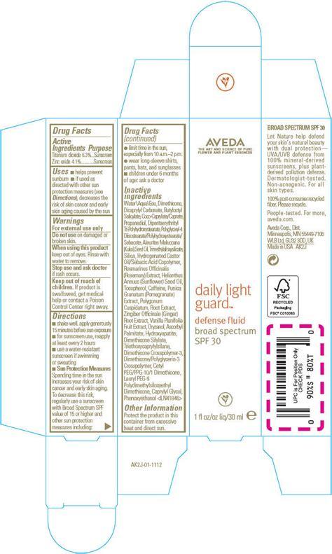 aveda daily light guard defense fluid broad spectrum spf 30 daily light guard defense fluid broad spectrum spf 30