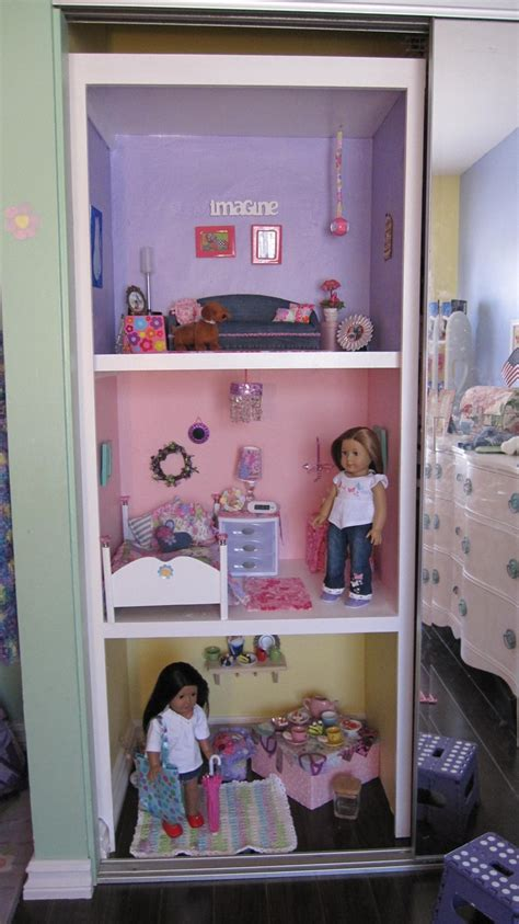 pictures of a doll house american girl doll house using closet space i totally