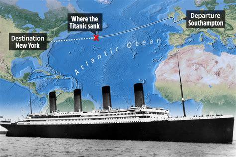 Titanic Sinking Spot by Maps Coordinates Reveal Exact Spot Where Titanic