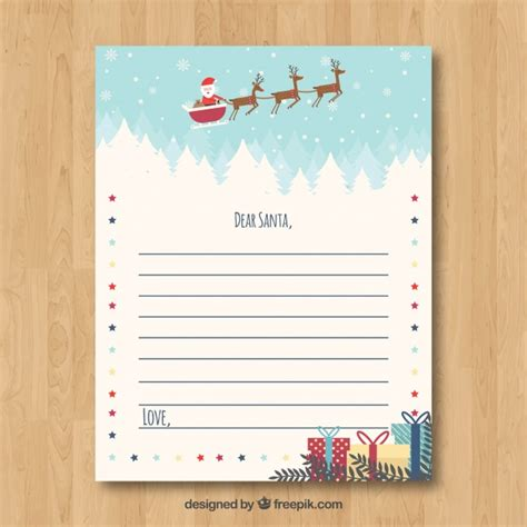 cute christmas letter template vector
