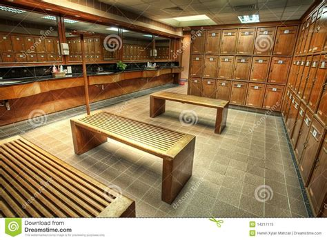changing  locker room   country club stock image