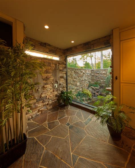 Garden Bathroom Ideas Master Shower Water Garden Tropical Bathroom Other Metro By Mcspadden Custom Homes