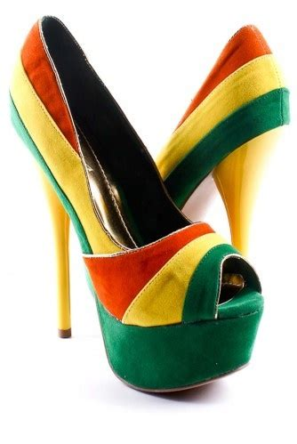 jamaican colored sneakers one
