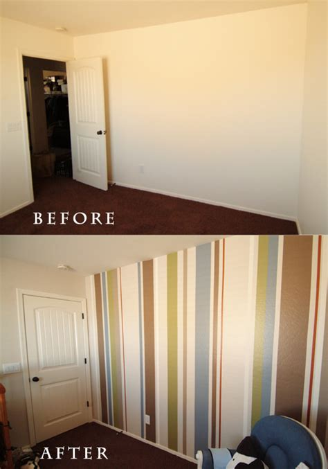mo momma baby nursery diy painting stripes