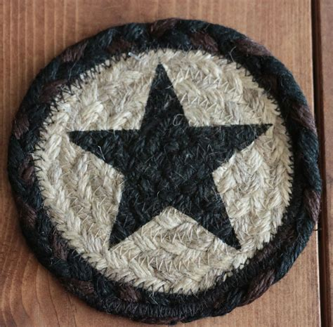 braided rug coasters black braided jute coaster set by capitol earth rugs the patch