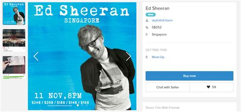 ed sheeran singapore smart reseller on carousell found a way to sell overpriced