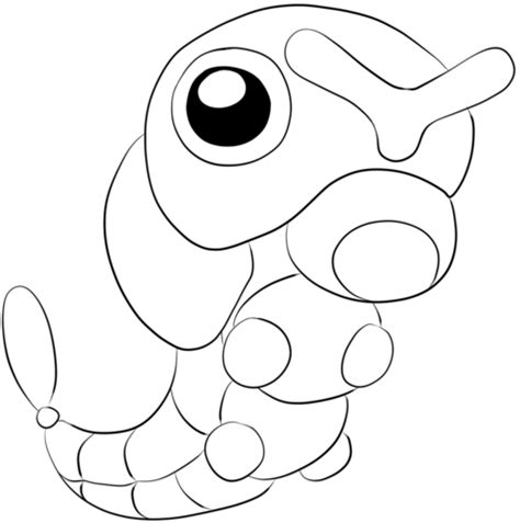 pokemon coloring pages weedle caterpie tegninger