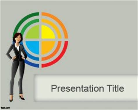 powerpoint design hair lady powerpoint template