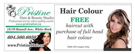 haircut coupons surrey bc hair colour with free haircut at pristine hair and beauty