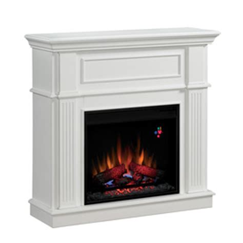 White Electric Fireplace Lowes by Shop Chimney Free 41 In White Electric Fireplace At Lowes