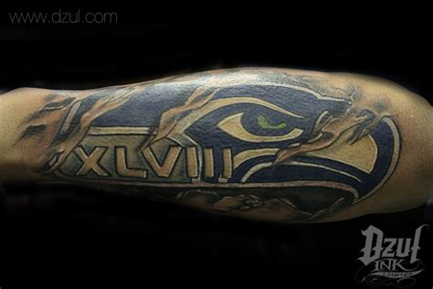 seahawks tattoo custom seahawk this color custom 12th