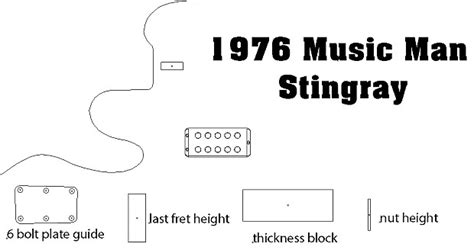 1976 Music Man Stingray Bass Routing Template Vinyl Sticker Reverb Printable Routing Template