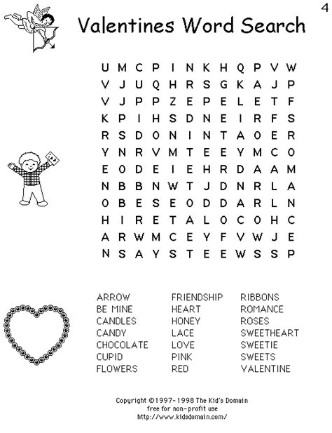 printable valentine word search 1st grade printable word search puzzles printable valentine word