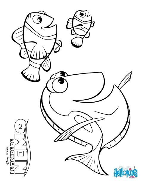 coloring pages nemo and dory disney coloring pages marlin dory and nemo coloring
