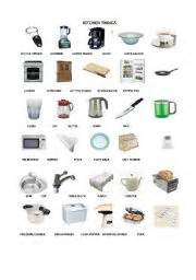 Things In The Kitchen Vocabulary by Worksheet Kitchen Things