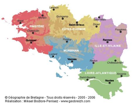 Small English Cottages by Maps Of Brittany