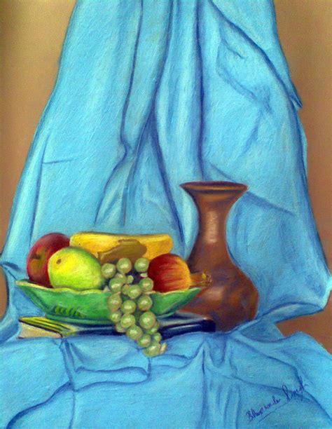 still life with drapery still life with drapery pastel by bhupinder singh