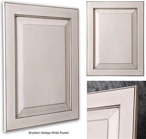 pewter glazed white cabinets kitchen